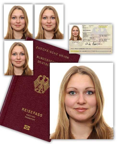 Passbildvorlage